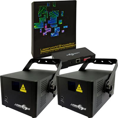 Image of Laserworld 2 x CS 2000RGB MKII & Showeditor