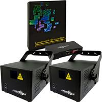 Image of Laserworld 2 x CS 2000RGB MKII & Showeditor