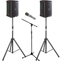 Image of JBL EON ONE Compact Pair Stands & Mic Package