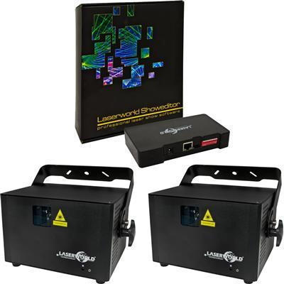 Image of Laserworld 2 x PRO 1600RGB & Showeditor