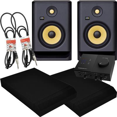 Image of KRK Rokit RP7 G4 & Audio 2 Package