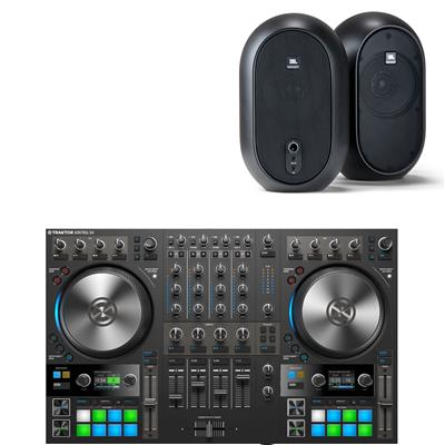Image of Native Instruments Traktor Kontrol S4 & JBL 104 Package